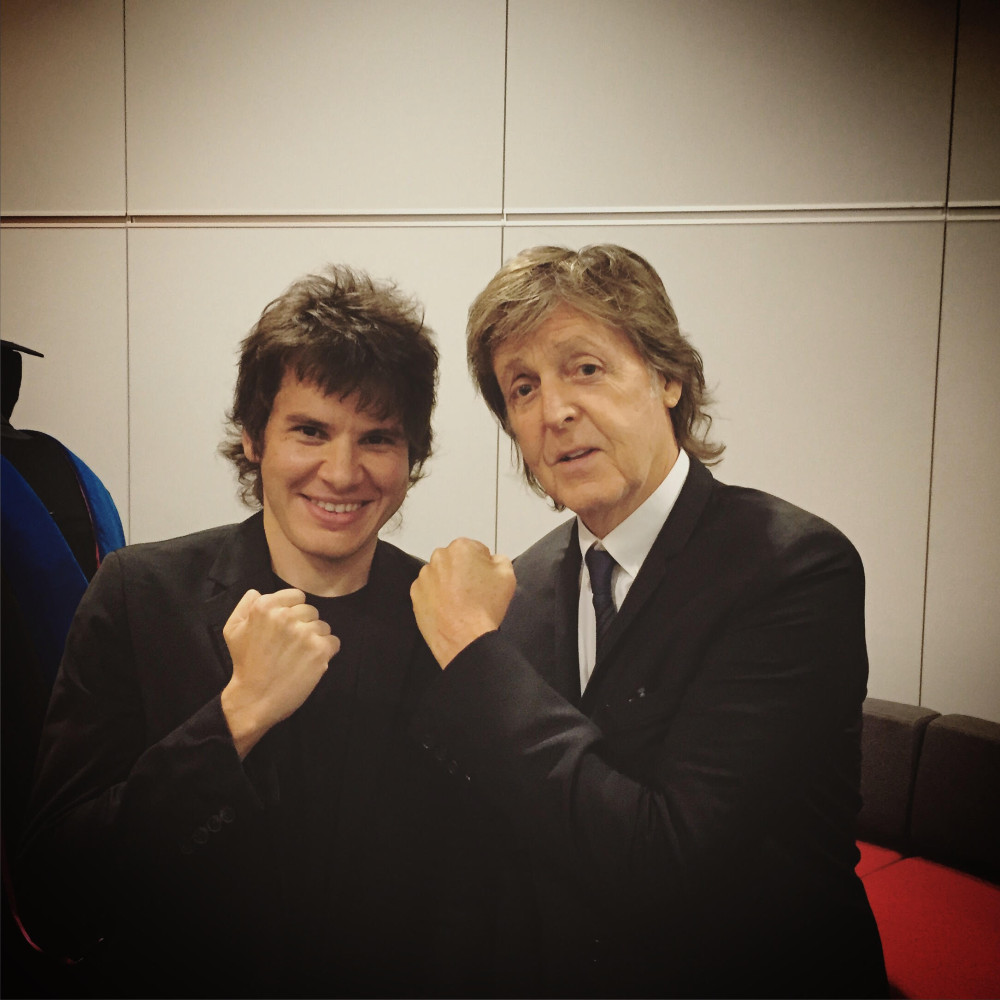 PAUL McCARTNEY and MAYOR TOM