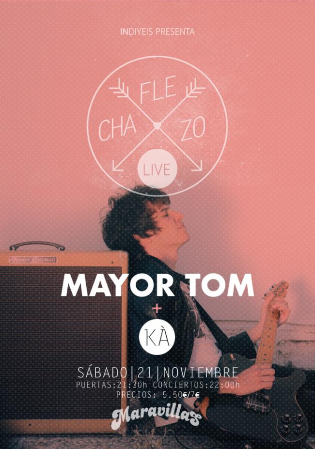 MAYOR TOM te hará un UNFOLLOW si no vas a su concierto del 21N en la Maravillas